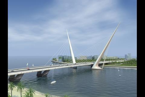 Dubai's motorway bridge, by Royal Haskoning
